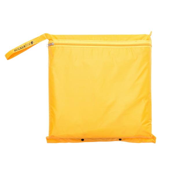 Built-In Portable Poncho w//Stadium Seat Cushion Slicker Seat Unisex Raincoat