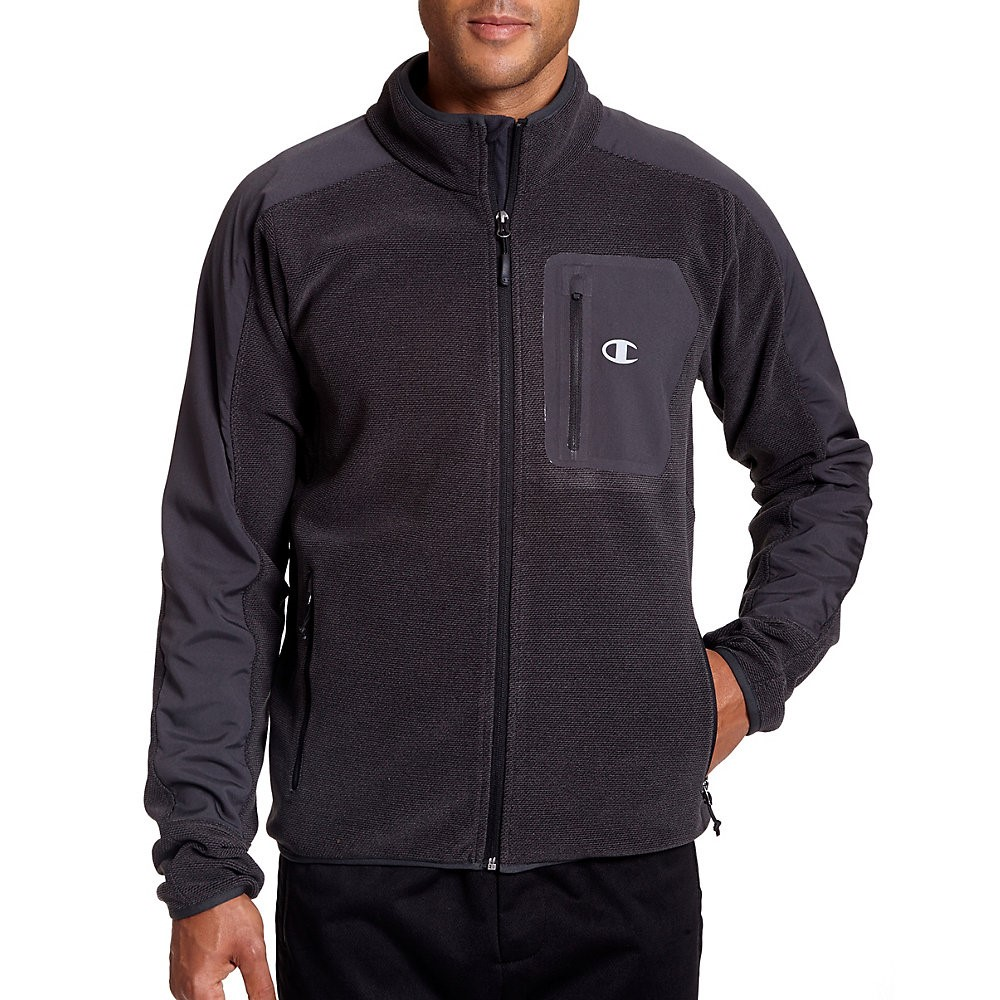 Mens Textured Fleece w Water Repellent Overlay CH2015TF