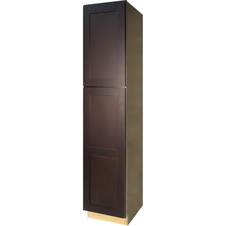 Everyday Cabinets 18-inch Dark Espresso Shaker Pantry / U...