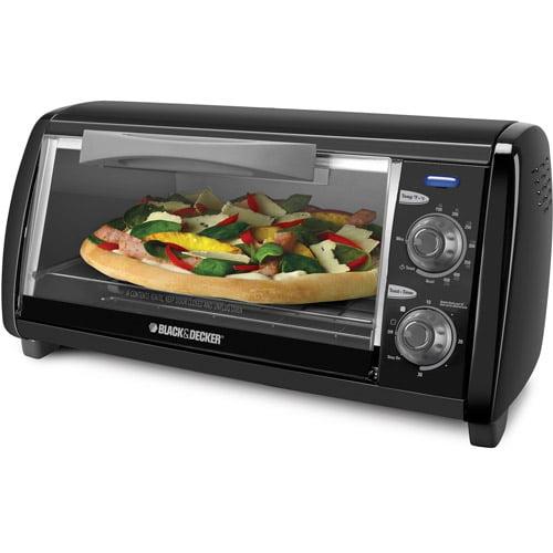 Black & Decker 4-Slice Countertop Toaster Oven, Stainless Steel