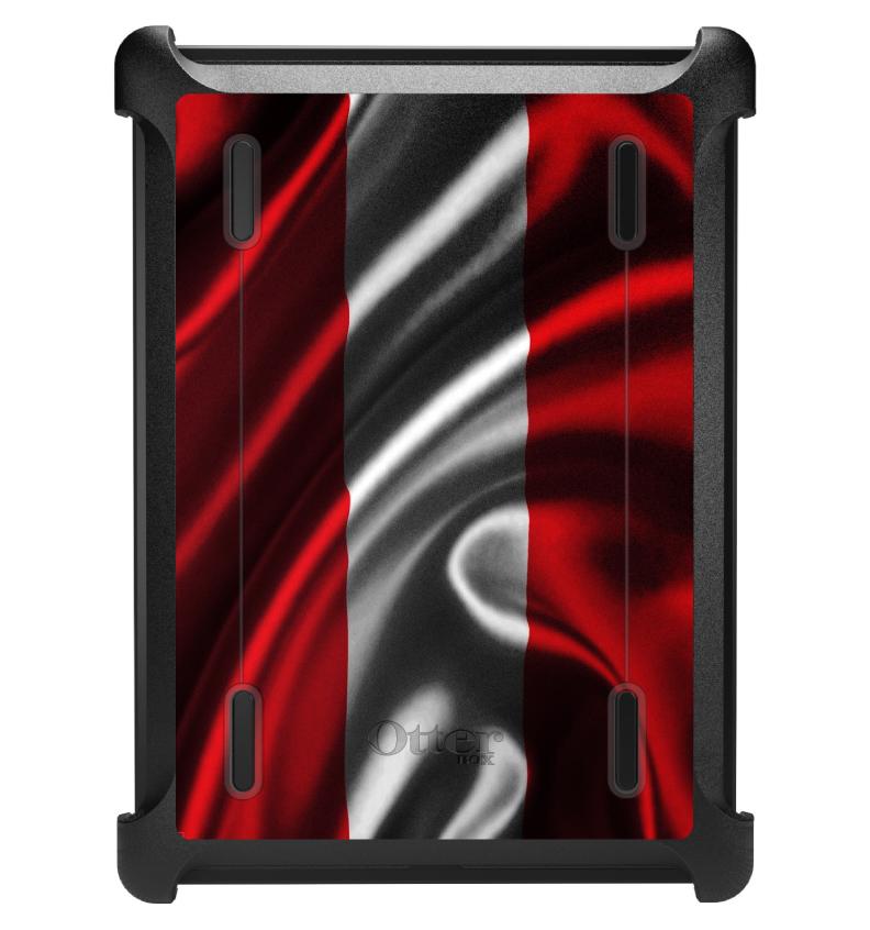 CUSTOM Black OtterBox Defender Series Case for Apple iPad Air 1 (2013 Model) - Austria Waving Flag