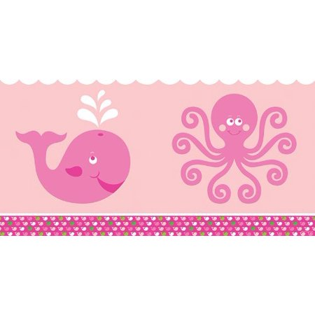 Creative Prom Themes (Plastic Table Cover, Ocean Preppy Girl, Ocean whale themed plastic table cover By Creative)