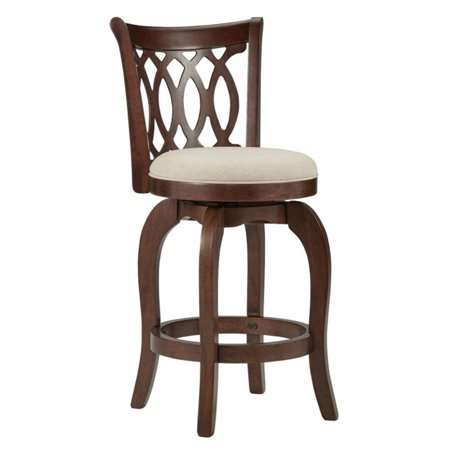 Weston Home Shapel Collection 24H in. Swivel Counter Height Stool - Motif Design