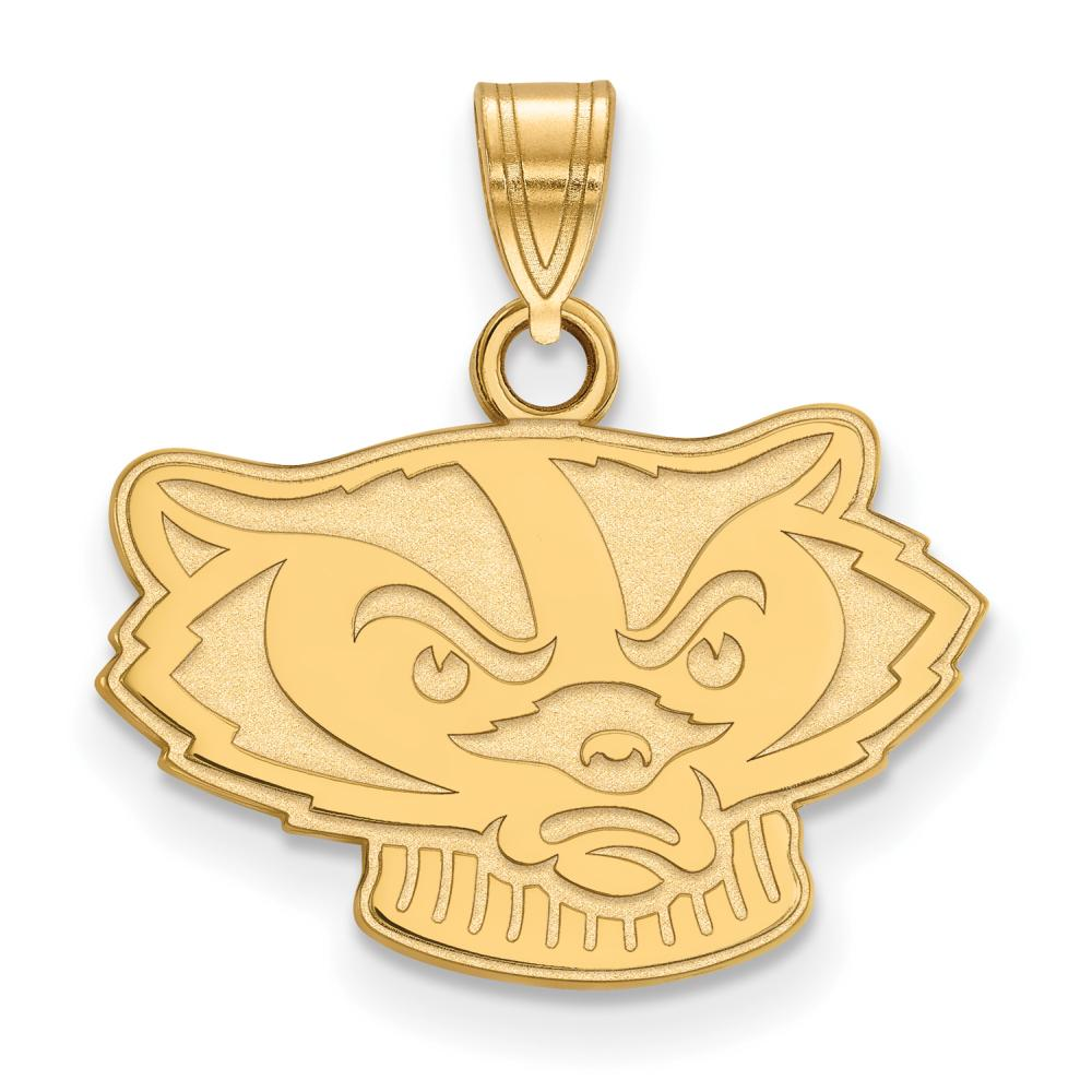 Wisconsin Small (1/2 Inch) Pendant (14k Yellow Gold)