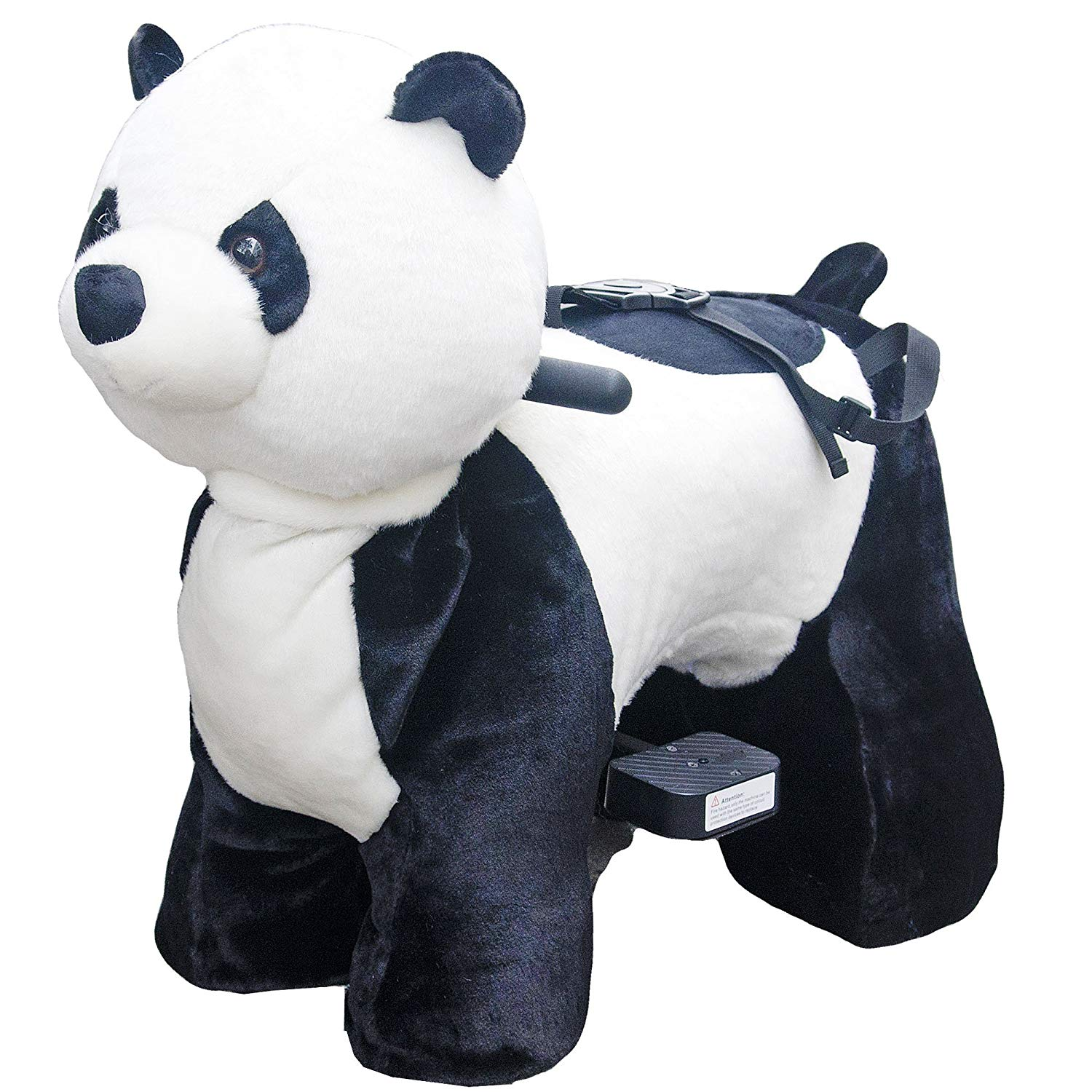 Rechargeable 6V 7A Plush Animal Ride On Toy for Kids (3 ~ 7 Years Old) With Safety Belt Panda by HOVERHEART