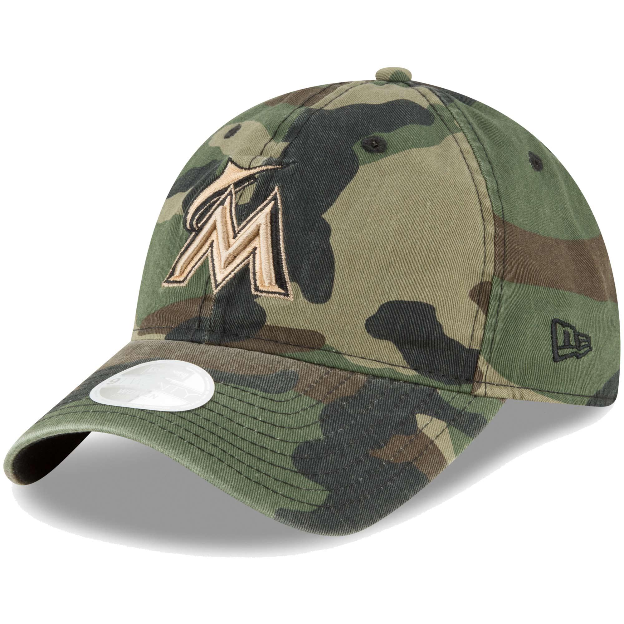 Miami Marlins New Era Women's Core Classic Twill 9TWENTY Adjustable Hat - Camo - OSFA