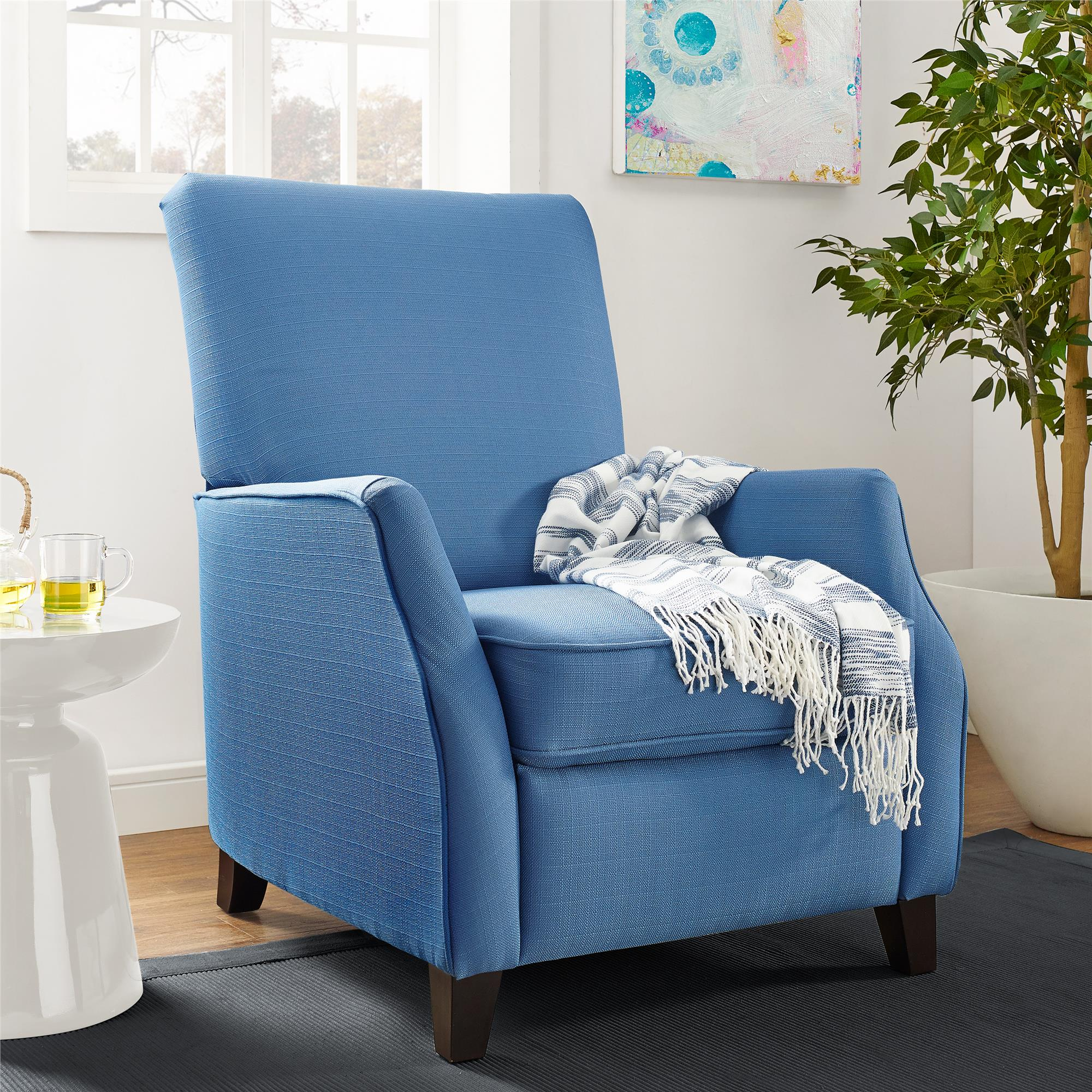 Dorel Living Noa Pushback Recliner, Blue