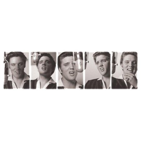 Elvis Presley Love Me Tender Portrait Singing Photo Collage Icon Poster - 36x12 inch