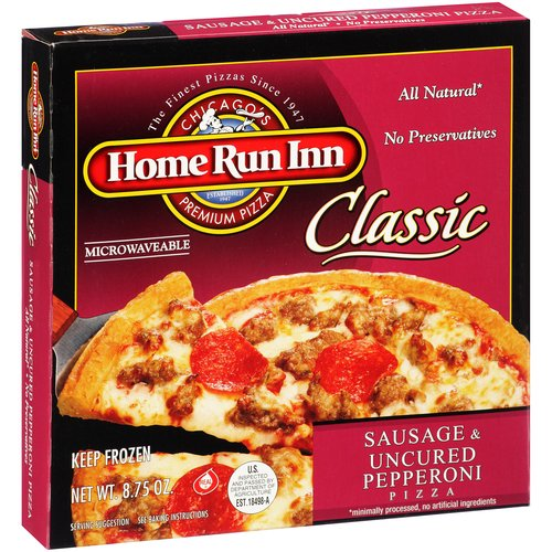 Home Run Inn Classic Sausage & Uncured Pepperoni Pizza, 8.75 oz