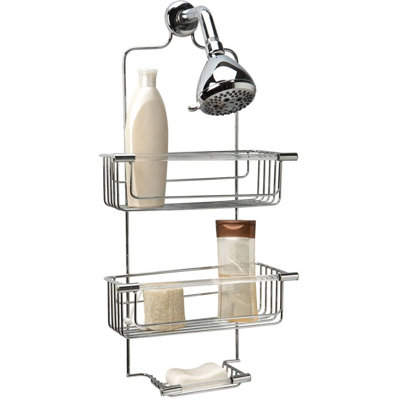 Bath Bliss 3-Tier Acrylic Tube Shower Caddy, Chrome - Walmart.com