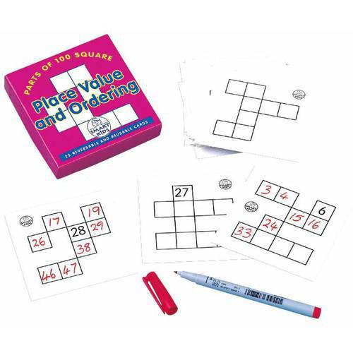 Didax Place Value and Ordering Cards, Grades 2 to 4, Set of 25