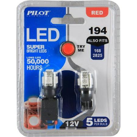 Pilot Automotive Il 194r 5 Am Red 5 Smd Led Dome Light Bulb 2 Piece