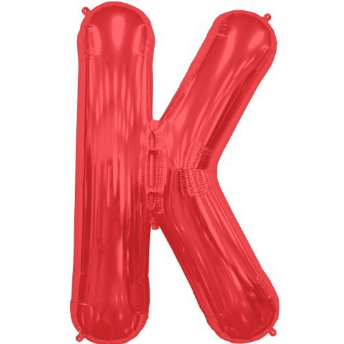 Letter K - Red Helium Foil Balloon - 34 inch