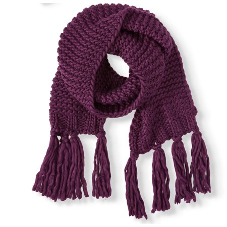 Time and Tru Chunky Knit Oblong Scarf (Green Chunky Scarves)