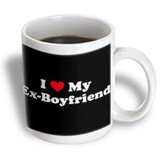 3dRose I Love My Ex Boyfriend, Ceramic Mug, 11-ounce