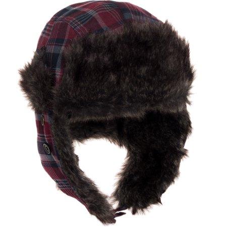 ac9349ef6 Dakota Dan Trooper Ear Flap Winter Bomber Cap w/ Faux Fur Lining Hat NEW  NWT - Walmart.com