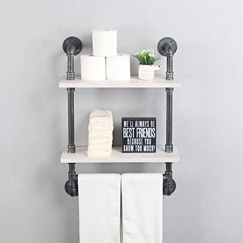 Industrial Pipe Bathroom Shelf With, Rustic Bathroom Shelves