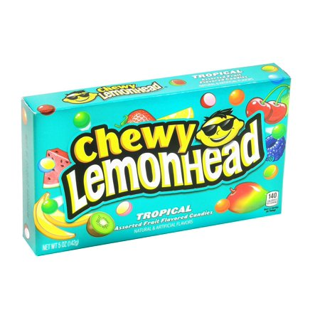 12 PACKS : Chewy Lemonhead Tropical Assorted Fruit Flavored Candies 5 oz