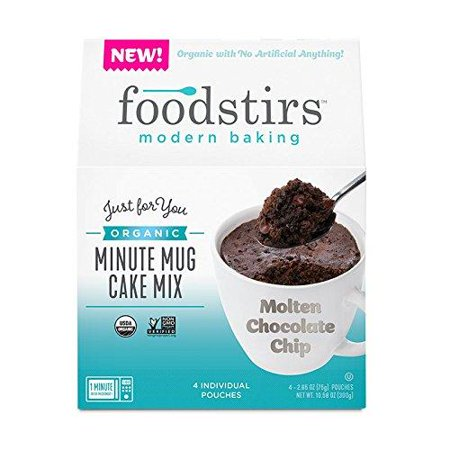 Foodstirs Organic, Non GMO Minute Mug Cake Mix Chocolate Molten Cake, 2.65 Ounce (Pack of