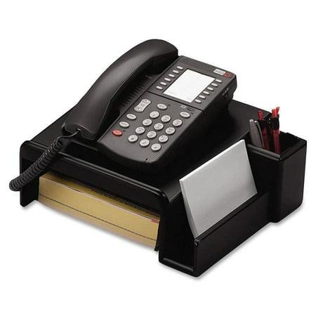 Rolodex ROL62538 Wood Tones Phone Stand, Black