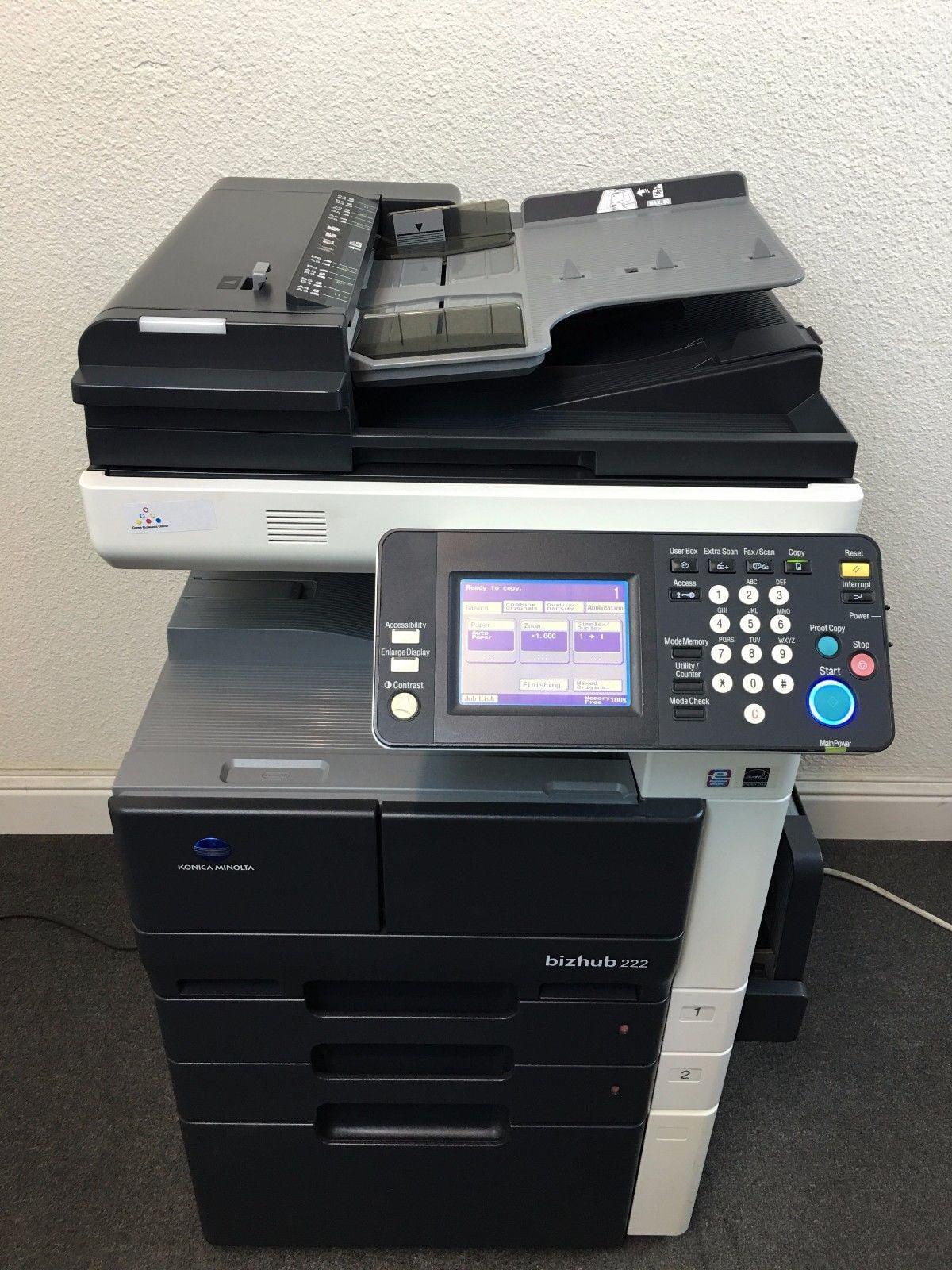 Konica Minolta Bizhub 222 Copier Printer Scanner Network LOW meter 83k total ! by Konica Minolta