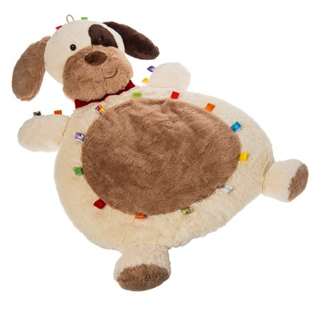 Taggies Baby Mat - Buddy Dog Taggies Baby Mat - Buddy DogTaggies Buddy Dog Baby Mat is 31  long. Full of Taggies ribbons and super soft plush. Applique face details. Makes a WOW baby shower gift. Machine wash and air dry. Folds for easy travel.