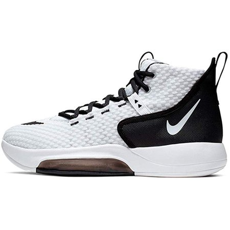 Nike Men's Zoom Rize TB Basketball Shoes, White/Black, 4.5 D(M) US