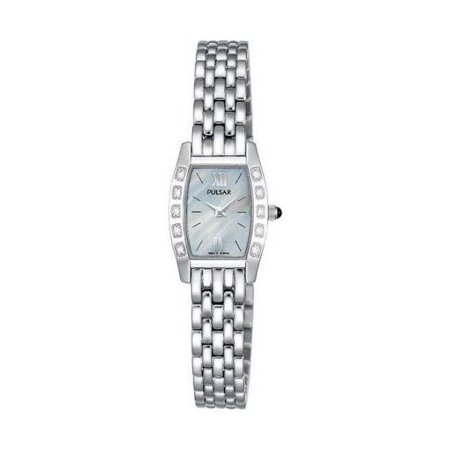Pre-Owned Pulsar Diamond Collection Stainless Steel Quartz Women