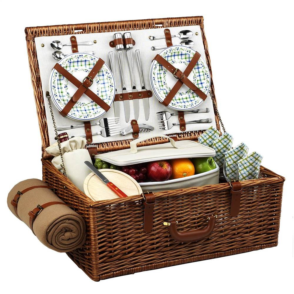 Dorset Gazebo Picnic Basket for Four with Blanket