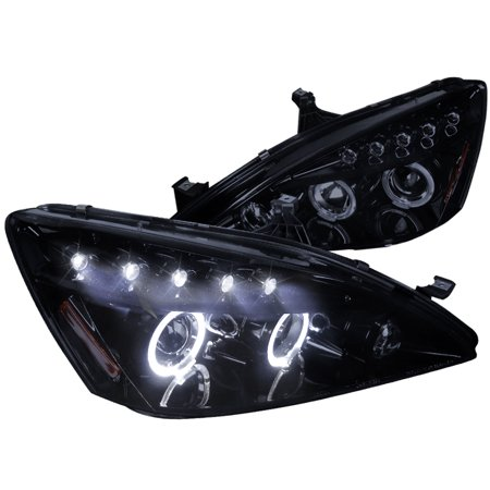 Spec-D Tuning 2003-2007 Honda Accord Halo Projector Headlights 2003 2004 2005 2006 2007 (Left + Right)