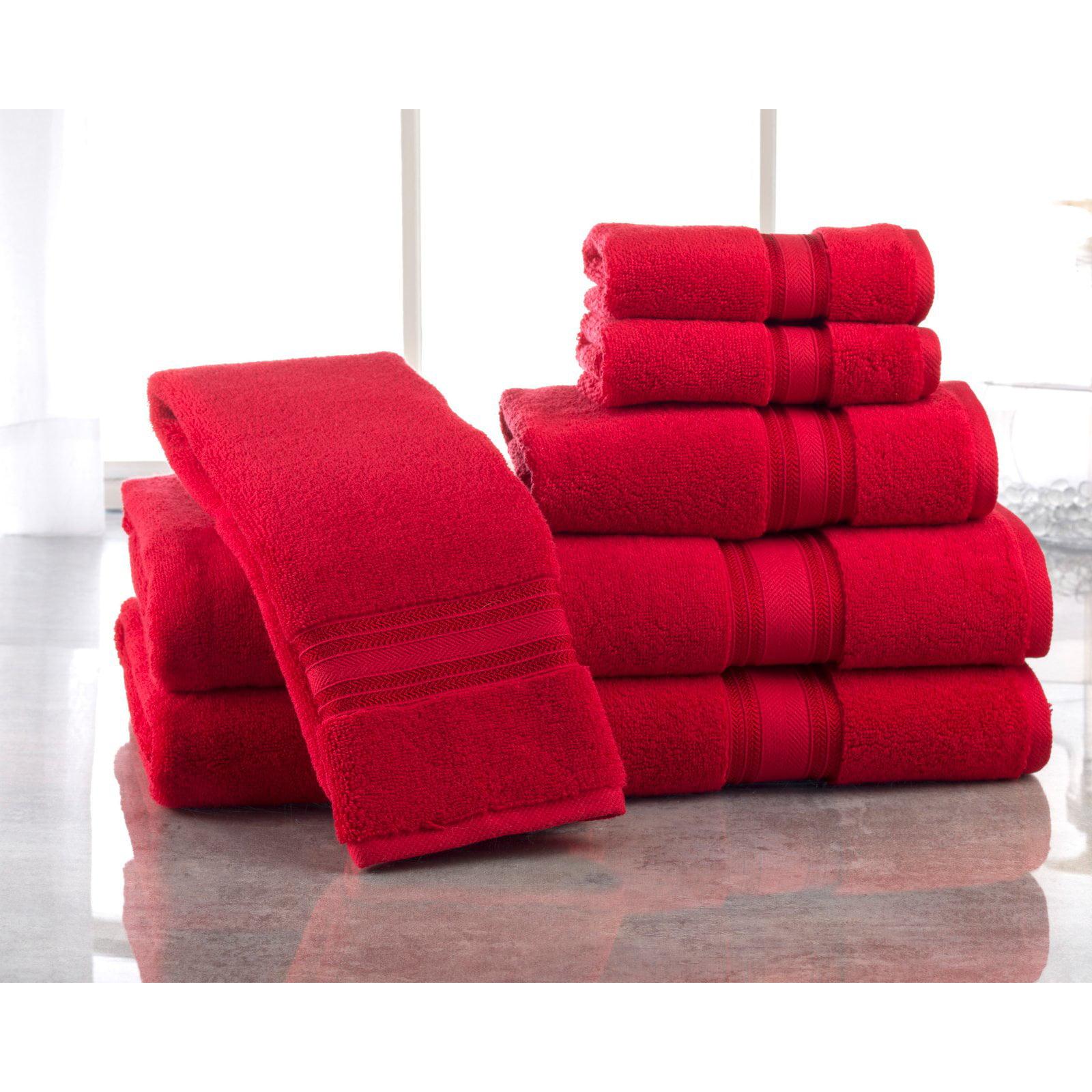 Affinity Linens 6 Piece Super Soft Cotton Towel Set
