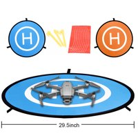 Drones Landing Pad Portable Landing Pads Double-Sided Reflective Launch Pad 29.5''/75CM