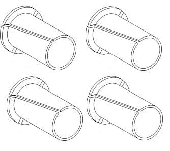 231800a1 Pack Of 4 Door Hinge Bushings For Case Ih Tractor Models