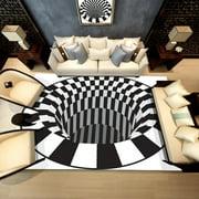 (Toponeto) Shaggy Fluffy Anti-Skid Area 3D Rug Dining Room Carpet Home Bedroom Floor Mat