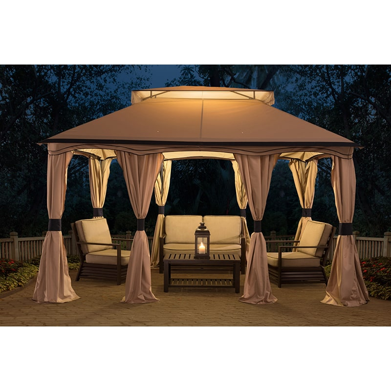 Sunjoy 10 x 12 ft. Pool House Cabana Gazebo