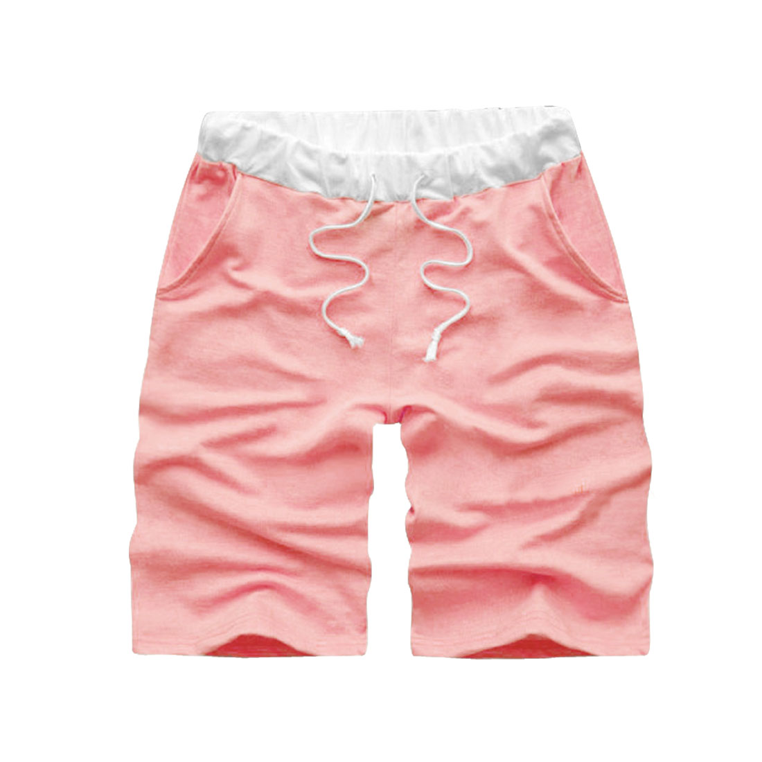 Azzuro Men's Drawstring Elastic Waist Casual Loose Short Pants (Size S / W31)