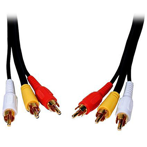 15FT 3 RCA TO 3 RCA VIDEO/AUDIO CABLE STANDARD SERIES LIFETIME WARR
