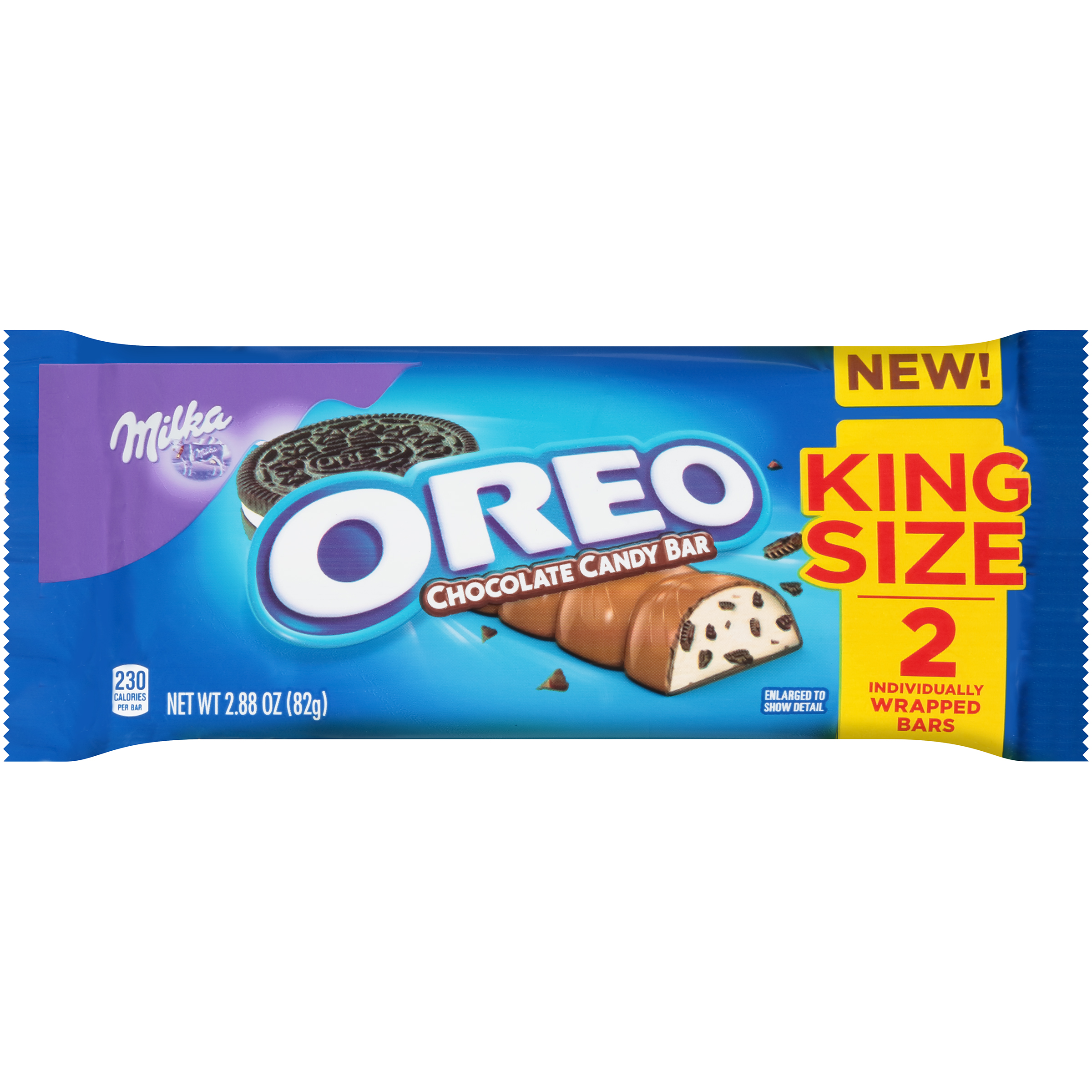 Milka oreo chocolate candy bar king size - 2 ct