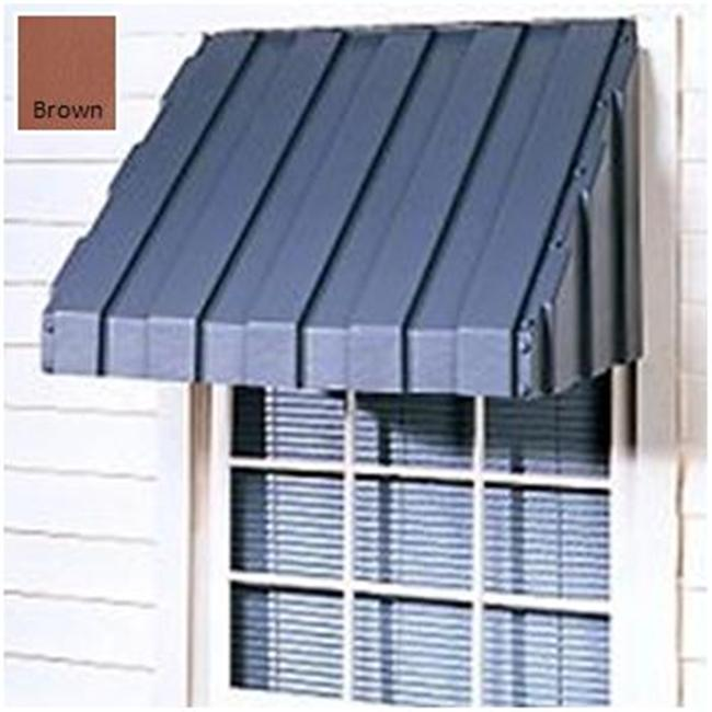 East Iowa Plastics A60BR Window Awning  60 in.  Brown
