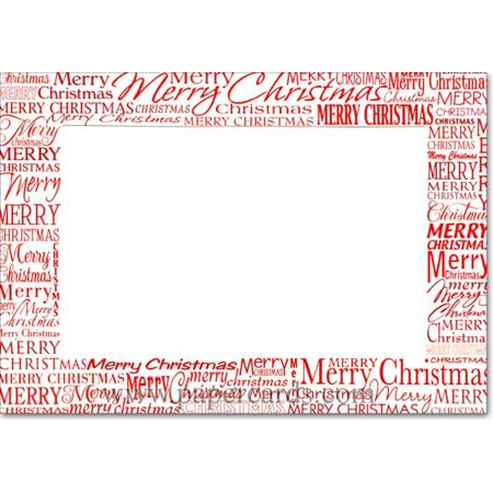 Designer Greetings Red Merry Christmas Photo Holders Box of 18 Christmas Cards ()