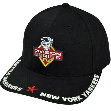 MLB American Needle Yankees Mariners Division Series Black Sun Buckle Hat Cap