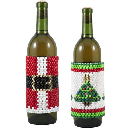 Herrschners® Holly Jolly Christmas Wine Bottle Wraps Beading