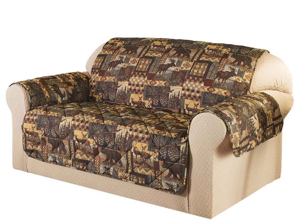 Woodland Lodge Furniture Protector Cover, Sofa, Brown