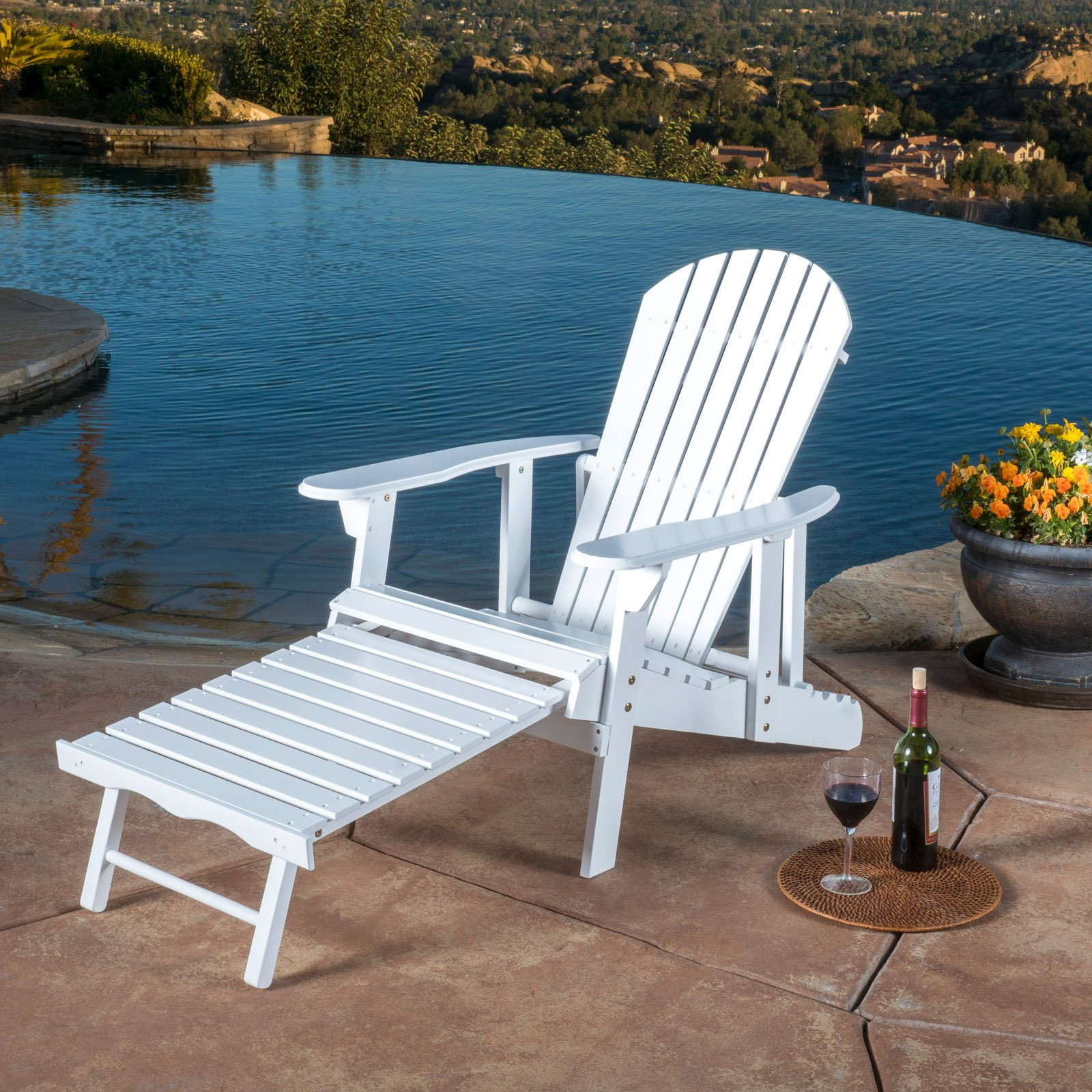Hayle Reclining Outdoor Adirondack Chair with Footrest