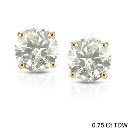 Auriya 18k Yellow Gold 1 2ct To Tdw Clarity Enhanced Diamond Stud Earrings