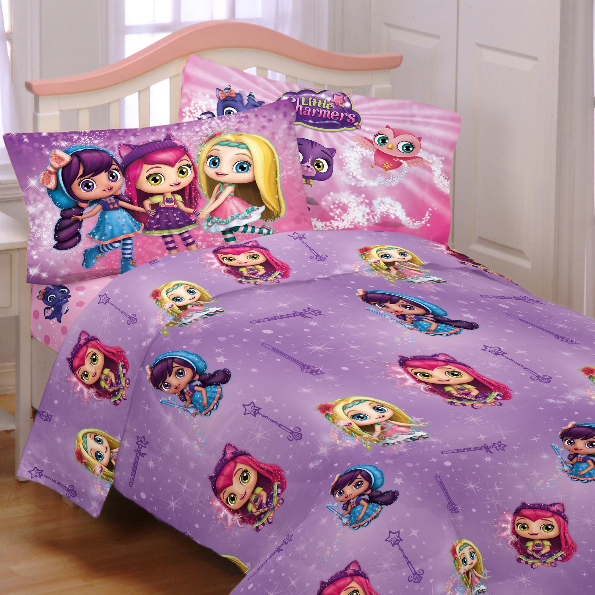 Franco Little Charmers Charm - tastic Twin Sheet Bedding Set