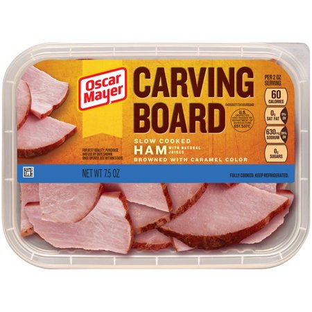 Oscar Mayer Carving Board Slow Cooked Ham, 7.5 oz - Walmart.com