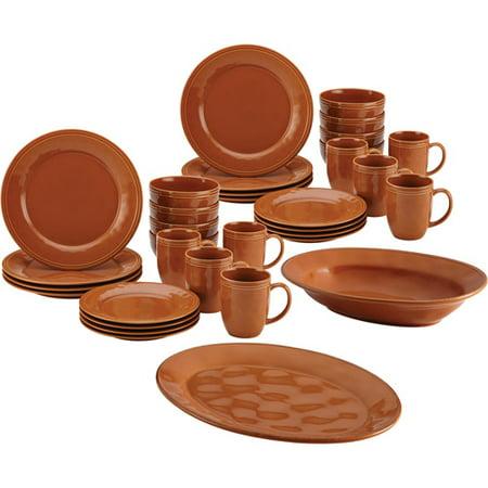 Rachael Ray 32-Piece Cucina Dinnerware Set with Your Choice of Cucina Serveware