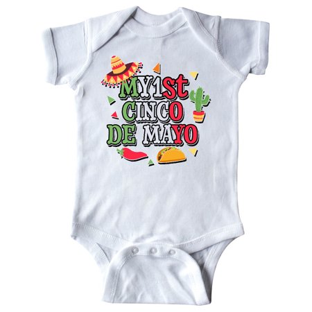 Red Hot Chili Peppers Baby Onesie (My 1st Cinco De Mayo with Sombrero Red Chili Pepper Taco and Cactus Infant)