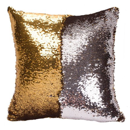 Double Layer and Double Color Sequins Pattern Variable Back Cushion Pillow 40x40CM ()